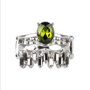 Crowned Victor-Green Ring